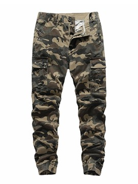 Ericdress Pencil Pants Pocket Camouflage Mid Waist European Casual Men's Pants