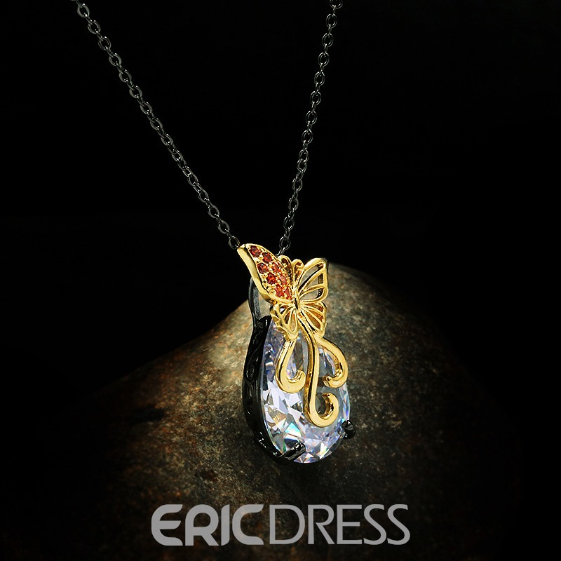 Ericdress Diamante Pendant Necklace Female Necklaces