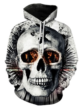 Ericdress Print Skull Pullover Fall Loose Hoodies