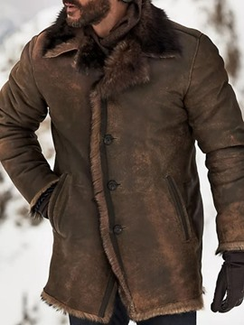 Ericdress Plain Pocket Mid-Length Casual Single-Breasted Men's Down Jacket