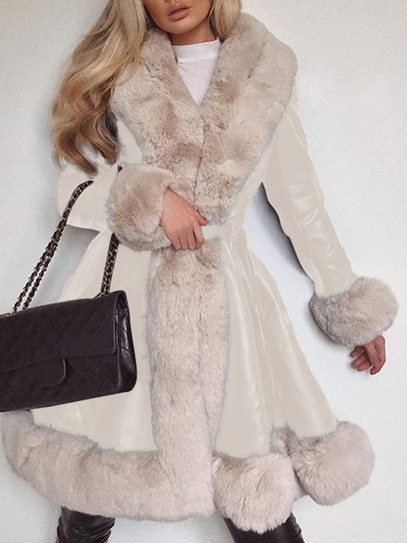 Ericdress Regular Lace-Up Lace-Up Winter Long Overcoat
