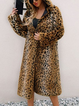 Ericdress Long Regular Hooded Slim Women's Faux Fur Overcoat