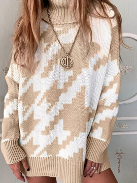 Ericdress Regular Thin Patchwork Long Sleeve Women's Winter Sweater