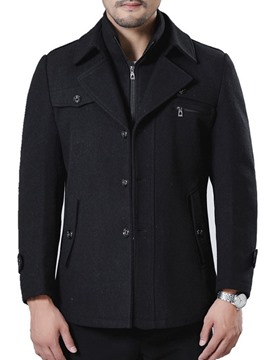 Ericdress Standard Plain Double-Layer Straight Men's Casual Coat