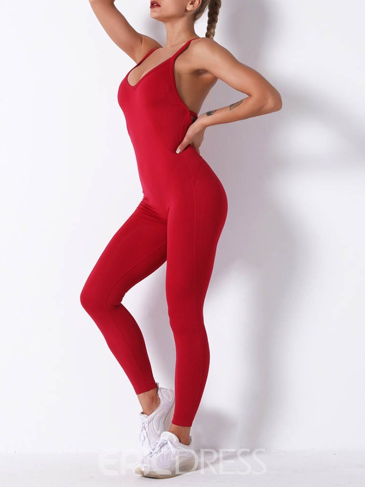 Ericdress Quick Dry Polyester Solid Female Ankle Length Pants