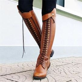Ericdress Plain Round Toe Block Heel Cotton Boots