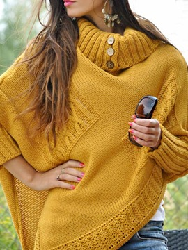 Ericdress Thin Patchwork Batwing Sleeve Fall Mid-Length Women's Sweater