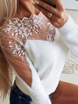 Ericdress Lace Regular Standard Long Sleeve Women's Sweater