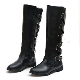 Ericdress Round Toe Side Zipper Block Heel PU Boots
