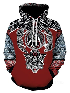 Ericdress Print Pullover Fall European Men's Hoodies