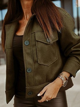 Ericdress Single-Breasted Long Sleeve Thin Standard Fall Women's Jacket