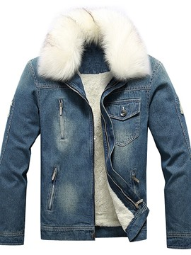 Ericdress Thick Lapel Worn Casual Winter Men's Jacket
