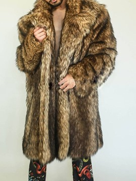 Ericdress Mid-Length Straight Men's Winter Coat