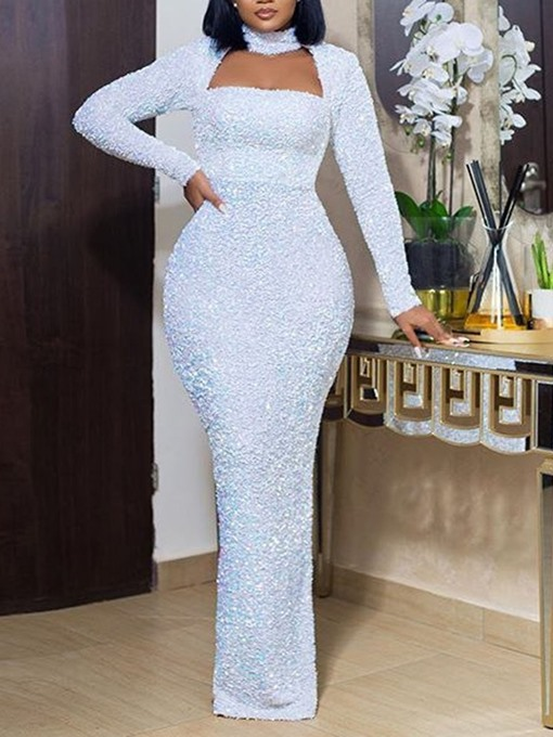 Ericdress Long Sleeve Floor-Length High Waist Pencil Women's Dress