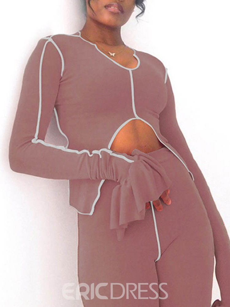 Ericdress Polyester Quick Dry Stripe Long Sleeve Full Length Clothing Sets