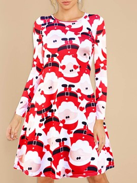 Ericdress Cartoon Print Western Polyester Women's Christmas Costumes