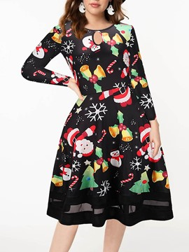 Ericdress Western Long Sleeve Cartoon Women's Christmas Polyester Costumes