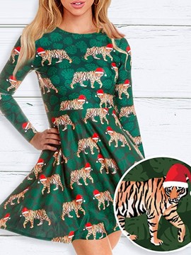 Ericdress Cartoon Sweet Long Sleeve Polyester Classic Women's Christmas Costumes