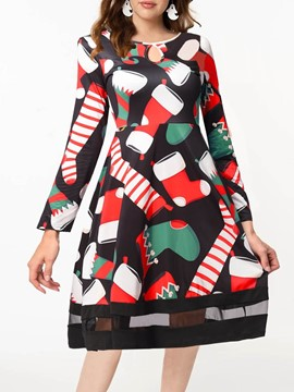 Ericdress Mesh Cartoon Long Sleeve Women's Christmas Polyester Costumes