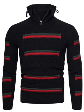 Ericdress Color Block Standard Fall Casual Men's Sweater