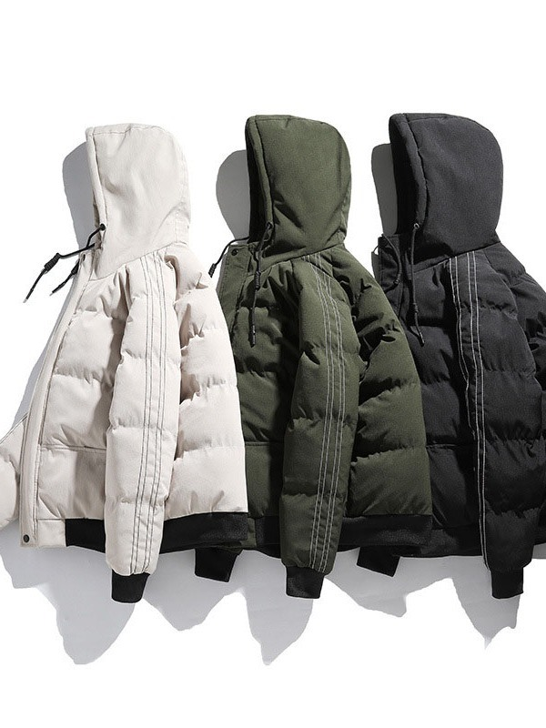 Ericdress Color Block Standard Patchwork Casual Zipper Women's Down Jacket