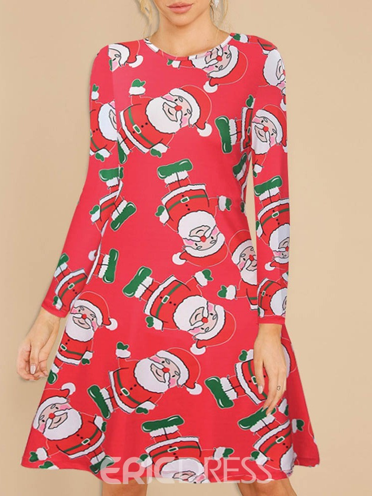 Ericdress Long Sleeve Print Western Polyester Fall Women's Christmas Costumes