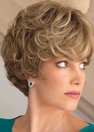 Ericdress Women's Short Layered Hairstyles Natural Curly Synthetic Hair Capless Wigs 10Inch