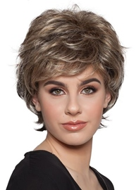 Ericdress Short Layered Hairstyles Women's Natural Wavy Synthetic Hair Capless Wigs 10Inch