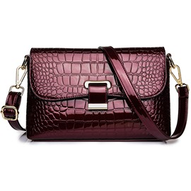bolsos de mujer ericdress fashion pu alligator crossbody