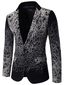 Ericdress Floral European Men's Slim Leisure Blazer