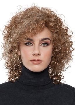 Ericdress Afro Curly Women 's Medium Hairstyles Curly Synthetic Hair Capless Wigs 18Inch