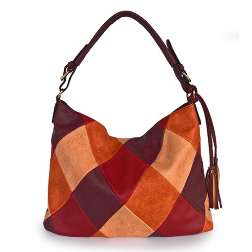 Ericdress Color Block Geometric PU Tote Women's Bags