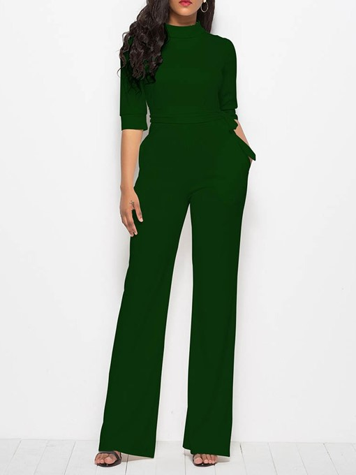 Ericdress Plain Fashion Full Length Slim Harem Pants Women's Jumpsuit