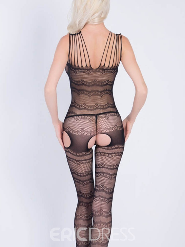 Ericdress Hollow Crotchless Sleeveless Nylon Teddies & Bodysuits