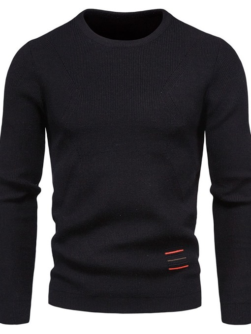Ericdress Color Block Round Neck Standard European Fall Men's Sweater