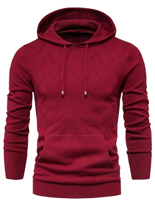 Ericdress Pocket Hooded Plain Casual Winter Men's Sweater