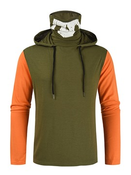 Ericdress Patchwork Casual Color Block Pullover Men's Long Sleeve T-shirt