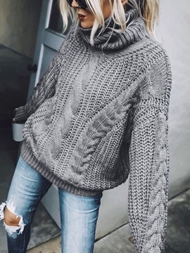 Ericdress Regular Thin Patchwork Long Sleeve Women's Sweater