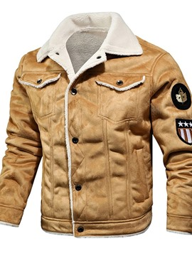 Ericdress Lapel Pocket Standard European Single-Breasted Men's Down Jacket