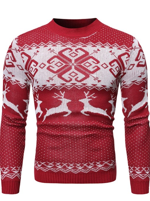 Ericdress Standard Animal Casual Winter Men's Sweater