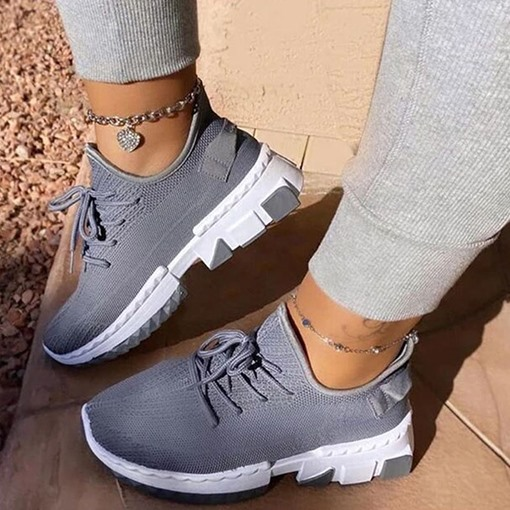 Ericdress Round Toe Lace-Up Low-Cut Upper Plain Women's Flats Sneakers
