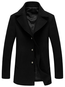 Ericdress Standard Lapel Plain Single-Breasted Winter Men's Coat