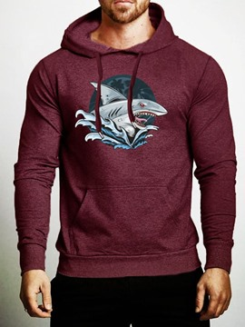 Ericdress Animal Pullover Print Men's Slim Hoodies