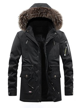 Ericdress Pocket Hooded Standard Zipper European Men's Down Jacket