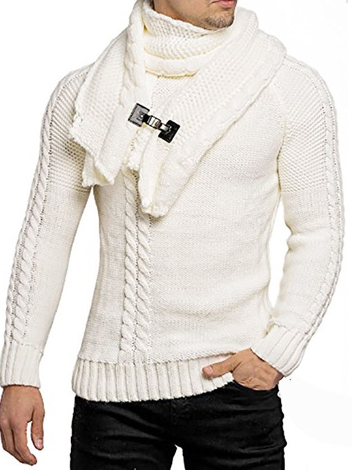 Ericdress Standard Plain Men's Slim England Sweater