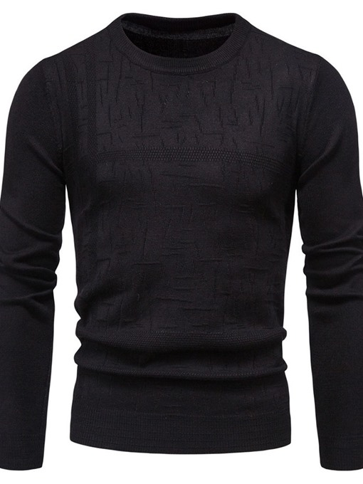 Ericdress Round Neck Standard Plain Fall Men's Sweater