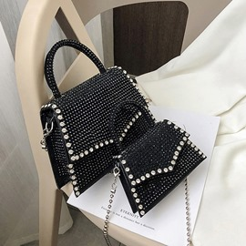 Ericdress Plain PU Chain Crossbody Bags