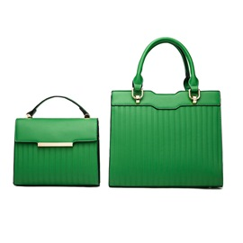 ericdress embossing pu mode tote bags