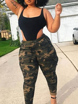 Ericdress Camouflage Skinny Print High Waist Pencil Pants Women's Casual Pants