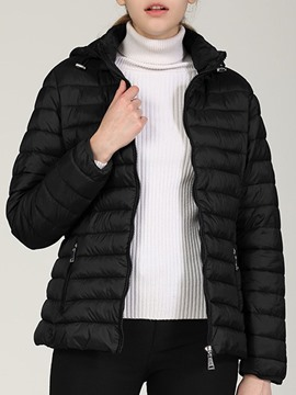 Ericdress Slim Zipper Zipper Standard Cotton Padded Women's Jacket